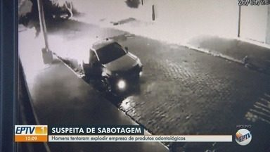 Polícia investiga tentativa de incêndio em empresa de materiais odontológicos em Ribeirão - Dupla estava com botijão de gás e galão de gasolina em frente à loja, na Rua João Bim, mas foram impedidos por populares.
