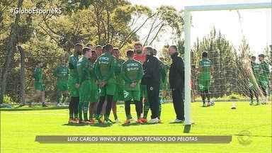 Luiz Carlos Winck é o novo técnico do Pelotas - Assista ao vídeo.