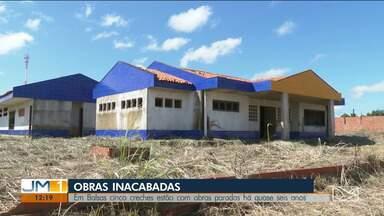 Obras em creche de Balsas estão paradas há seis anos - Local deve atender mais de duas mil crianças.