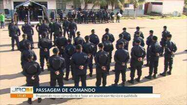 Passagem de comando - Proposta do novo comandante é focar em ensino com técnica e qualidade.