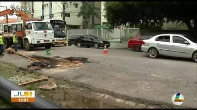 Cosanpa faz substituição de rede de abastecimento de água no bairro do Marco, em Belém - Cosanpa faz substituição de rede de abastecimento de água no bairro do Marco, em Belém