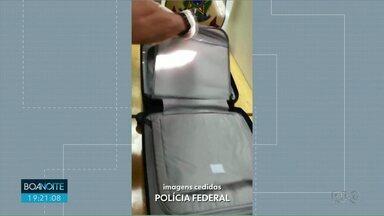 Polícia encontra droga escondida em bagagem - Paraguaio foi preso no aeroporto de Foz do Iguaçu.