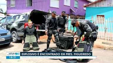 Explosivo é encontrado em Presidente Figueiredo - Material estava em uma casa na Zona Rural.
