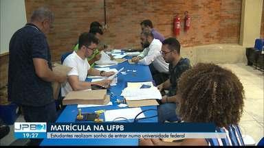 JPB2JP: Estudantes realizam sonho de entrar numa universidade federal - Matrícula na UFPB.