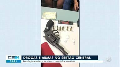 Drogas e armas apreendidas em Solonópole - Confira mais notícias em g1.globo.com/ce