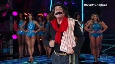 Jair Kóbe, o Guri de Uruguaiana, se apresenta no 'Quem Chega Lá' - O comediante consegue 9 picos nos 3 minutos de apresentação