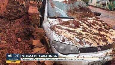 Chuva: Morreu no domingo (02) mulher atingida por muro na cidade de Caratinga - A morte é a 57ª causada pela chuva em 2020 no estado.