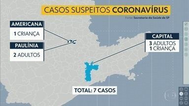Sete casos supeitos de coronavírus em São Paulo - Até agora nenhum caso da doença foi confirmado no país.