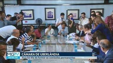 Câmara de Uberlândia define composição de comissões após posse de vereadores - Reunião especial definiu presidente, relator e membro de 17 pastas. Oposição vai presidir a maioria das comissões.
