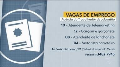 Confira vagas disponíveis na Agência do Trabalhador de Jaboatão - São dez para atendente de telemarketing e 12 para garçom, entre outras.