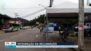 Usuários do transporte público em Teresópolis reclamam de integração feita pela Prefeitura - Equipe do RJ2 foi às ruas ouvir a população.