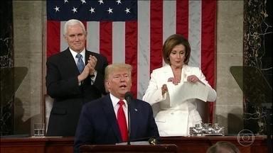 Senado dos EUA absolve Trump no julgamento do impeachment - Resultado era esperado. Trump tem maioria no Senado. Presidente fez o discurso anual do Estado da União em clima de campanha pela reeleição.