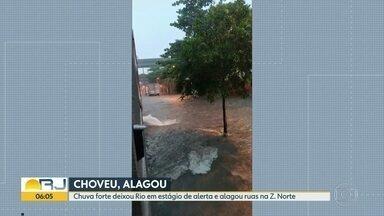 Chuva forte deixa o Rio em estado de alerta - Temporal também atingiu a BAixada Fluminense e o Sul do estado