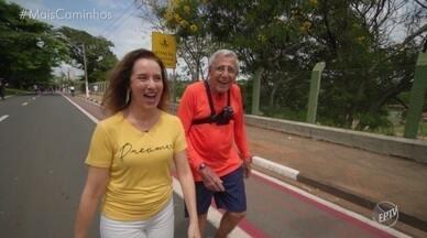 """Edlaine Garcia bate um papo com o 'Senhor Feliz' - Edlaine Garcia conhece o """"senhor feliz"""", que cheio de bom humor e simpatia, caminha aos finais de semana pela Lagoa do Taquaral, em Campinas (SP), alegrando o dia de todos"""