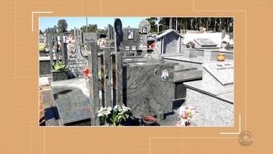Polícia Civil investiga furto em cemitério - Itens de bronze estão sendo levados dos túmulos, em Passo do Sobrado.