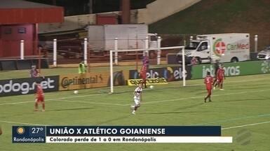 União de Rondonópolis perde para Atlético Goianiense - União de Rondonópolis perde para Atlético Goianiense; 1x0