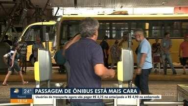 Passagem de ônibus está mais cara em Joinville - Passagem de ônibus está mais cara em Joinville