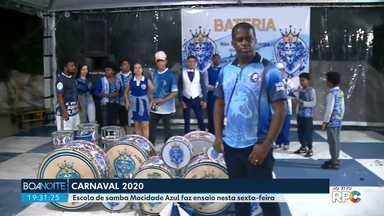 Carnaval 2020 - Escola de samba Mocidade Azul faz ensaio nesta sexta-feira