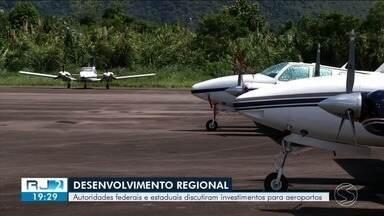 Autoridades federais e estaduais discutem investimentos para aeroportos - Entre os investimentos previstos, estão os que serão usados nos aeroportos de Angra dos Reis e Resende.
