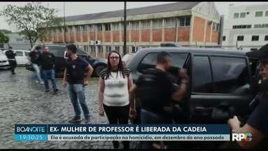 Justiça manda soltar ex-mulher acusada por morte de professor, em Ponta Grossa - Patrícia Manchenho estava presa desde dezembro quando o corpo do professor Lucas Ferreira de Oliveira foi encontrado.