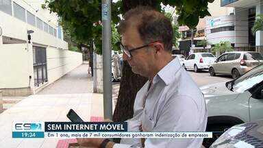 Em um ano, mais de 7 mil consumidores foram indenizados por falta de internet móvel no ES - Os consumidores processaram as empresas de telecomunicação em função do problema.
