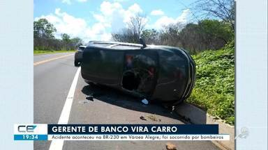 Gerente de banco em Choró vira carro na BR-230 em Várzea Alegre - Confira mais notícias em g1.globo.com/ce