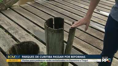 Parques de Curitiba vão passar por reformas - Pontes para pedestres serão revitalizadas no Passaúna e Tingui.