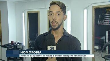 Motorista de aplicativo é suspeito de crime de homofobia em MS - O motorista perdeu a licença de trabalhar pela plataforma depois de se recusar a atender passageiro homossexual