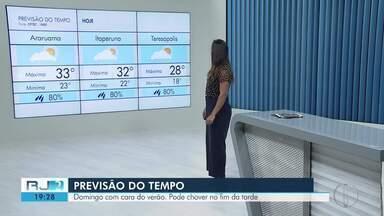 Confira a previsão do tempo para este domingo, 09 de fevereiro de 2020 - O RJ2 traz as temperaturas das cidades do interior do Rio.