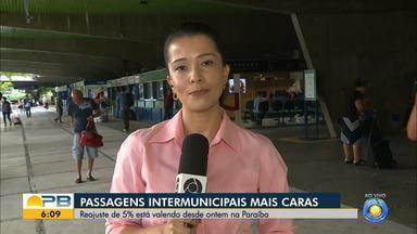Passagens intermunicipais sofrem reajuste de 5% na Paraíba - Confira os detalhes com a repórter Bessie Cavalcanti.