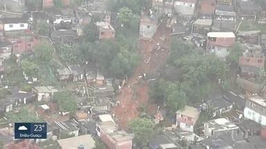 Menino de 7 anos, que ficou soterrado após deslizamento, está hospitalizado em Barueri - Outras vítimas do deslizamento que ocorreu em Osasco também estão no mesmo hospital em Barueri.