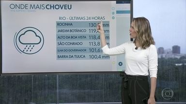 Confira onde mais choveu nas últimas 24 horas - Mangaratiba, Angra dos Reis e Belford Roxo foram os locais onde a chuva caiu mais forte. Na cidade do Rio, a Rocinha foi onde mais choveu. Previsão de chuva fraca a moderada nesta terça-feira (11).