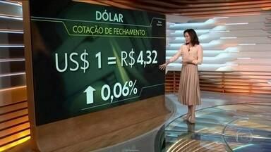 Dólar atinge a maior cotação desde o início do Plano Real, R$ 4,32 - Desde o início do ano, moeda americana já subiu R$ 0,30. Investidores estão preocupados com o impacto da epidemia do novo coronavírus na economia mundial.