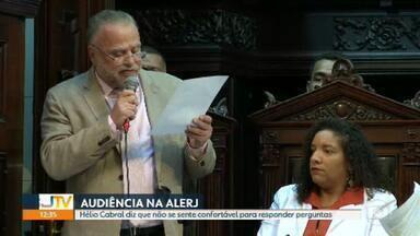 Hélio Cabral diz que não se sente confortável para responder perguntas sobre a Cedae na Alerj - O presidente da Cedae, que foi demitido na segunda-feira (10), esteve na Alerj nesta terça.