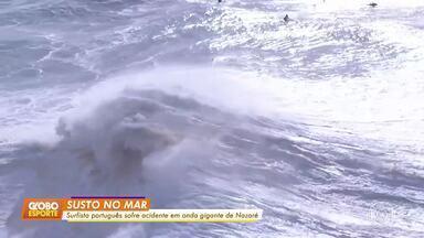 Surfista português sofre acidente em onda gigante de Nazaré - Surfista português sofre acidente em onda gigante de Nazaré