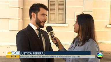 Subseção Judiciária volta a funcionar no Fórum Ministro José de Castro Meira - Subseção Judiciária volta a funcionar no Fórum Ministro José de Castro Meira.