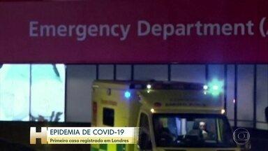 Primeiro caso do novo coronavírus é registrado em Londres - O primeiro caso confirmado em Londres é de uma chinesa moradora da cidade que chegou domingo (9) da China.