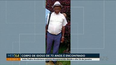 Corpo de idoso desaparecido em Terra Rica é encontrado em córrego - O idoso de 72 anos estava desaparecido desde o fim de janeiro.