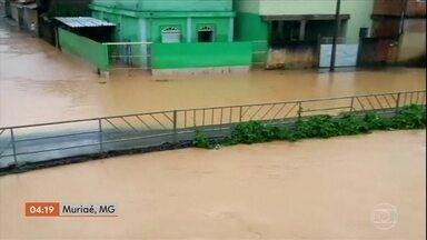 Várias cidades mineiras estão debaixo d'água por causa da chuva - Muitas cidades mineiras estão debaixo d'água por causa da chuva, na Zona da Mata.