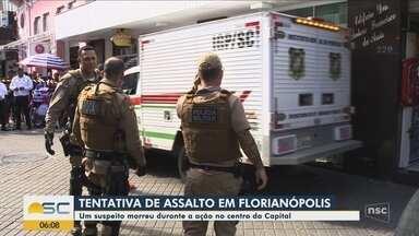 Suspeito é morto e outro acaba preso em tentativa de assalto no Centro de Florianópolis - Suspeito é morto e outro acaba preso em tentativa de assalto no Centro de Florianópolis