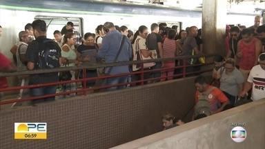 Metrô do Recife registra sequência de problemas - Levantamento do Bom Dia Pernambuco mostra defeitos registrados desde maio de 2019 até fevereiro deste ano.
