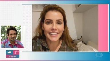Deborah Secco afirma que é fã de João Baldasserini - Atores trocam elogios e prometem muito romance e risadas na novela 'Salve-se Quem Puder'