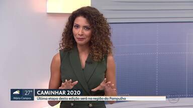 Caminhar 2020 é realizado na orla da Lagoa da Pampulha neste fim de semana - Evento levará atividades de bem-estar e saúde para a Praça Geralda Damata Pimentel.