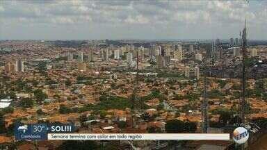 Semana termina com sol em toda região de Campinas - Temperatura máxima em Campinas é de 29°C e Limeira faz 31°C com chuva isolada.