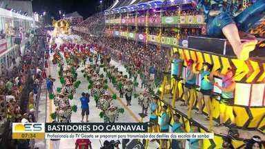 Bastidores do Carnaval: profissionais da TV Gazeta contam sobre a preparação pro desfile - Bastidores do Carnaval: profissionais da TV Gazeta contam sobre a preparação pro desfile.