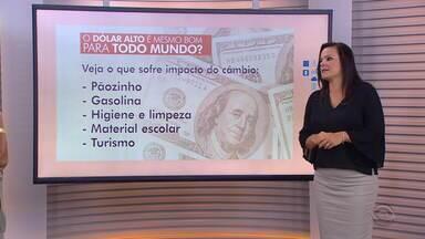 Confira o comentário de Giane Guerra sobre dólar - Assista ao vídeo.