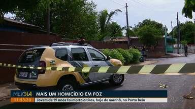 Jovem de 19 anos é assassinado no Porto Belo, em Foz - O crime foi na manhã desta sexta-feira.