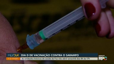 Neste sábado (15) é o Dia D de vacinação contra o Sarampo - Unidades Básicas de Saúde vão vacinar das 8h às 17h.