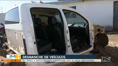 Caminhonete roubada é recuperada pela polícia em Balsas - Três suspeitos de fazer parte de esquema de desmanche de veículos foram presos.