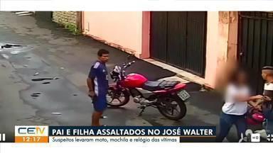 Pai e filha são assaltados no José Walter - Saiba mais no g1.com.br/ce